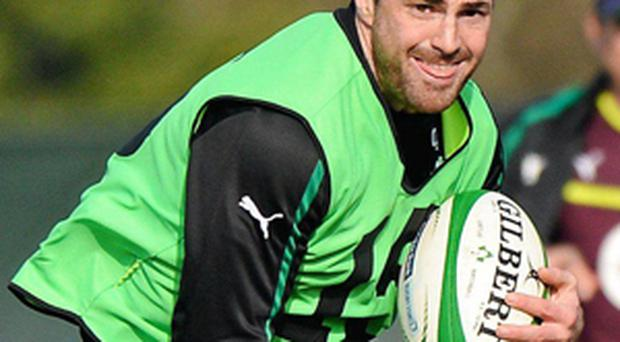 Rob Kearney in action during squad training