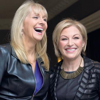 RTE broadcaster Miriam O'Callaghan, left, and former PD deputy leader Liz O'Donnell at the 12th An Cosan's fundraising Women's Day lunch at the Shelbourne Hotel.