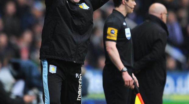 Manager Paul Lambert of Aston Villa celebrates their second goal. Photo: Getty
