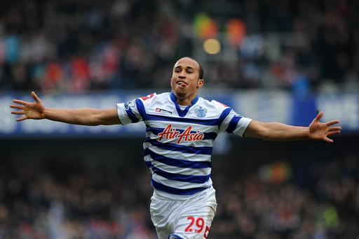 Andros Townsend of Queens Park Rangers celerates scoring their second goal. Photo: Getty