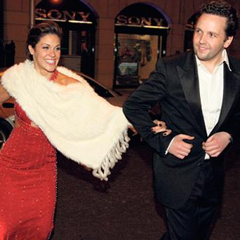 THOSE WERE THE DAYS: Mark Kershaw, who now faces High Court proceedings over a €20m debt, with Glenda Gilson.