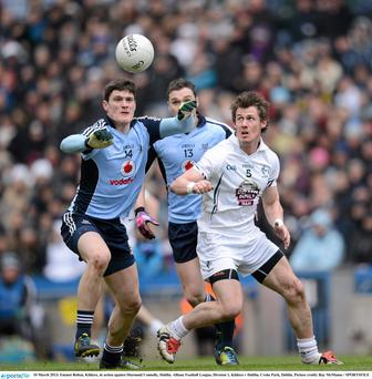Emmet Bolton, Kildare, in action against Diarmuid Connolly, Dublin.