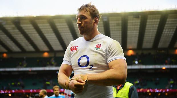 Captain Chris Robshaw of England