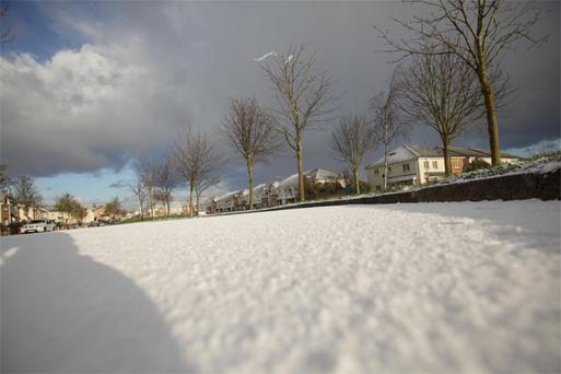Snow in Swords this morning
