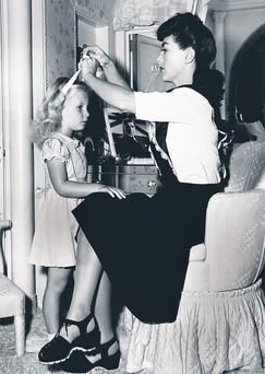 Joan Crawford and her daughter Christina