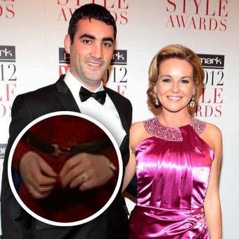 TV presenter Claire Byrne and boyfriend Gerry Scollan are engaged