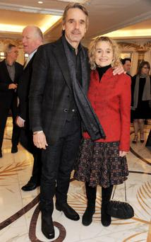 Jeremy Irons and his wife Sinead Cusack (Photo by Dave M. Benett/Getty Images)