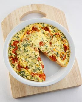Pepper and spinach Frittata