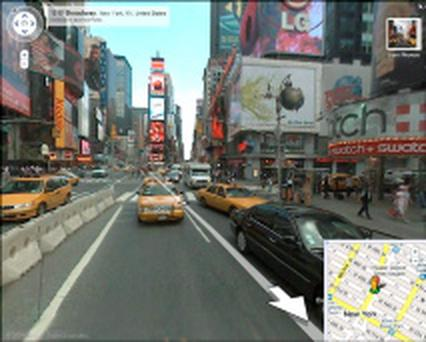 Google street view - Times Square, New York