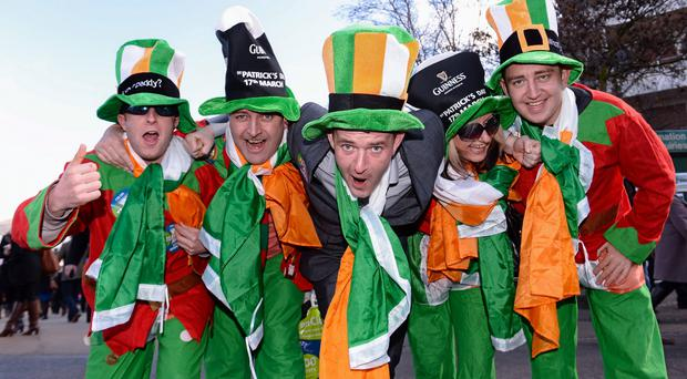 Racegoers, from left, James Craven, Anthony McCormack, Brian McCormack, Joan McCormack and Clive McCormack, all from Athlone, Co. Westmeath