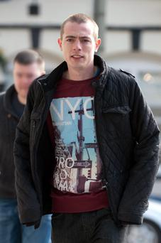 Sean Hulgrain arriving at court today. Photo: Collins Court