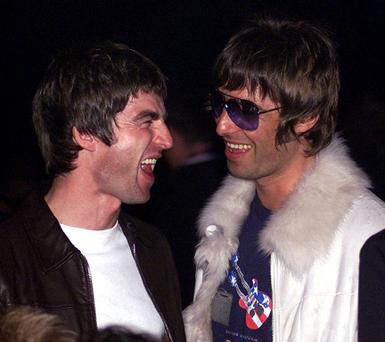 Noel (left) and Liam Gallagher in happier times