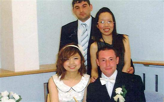 Jason Proctor, front right, and Kevin Donnelly, back left, who were both jailed for 10 months Photo: PA