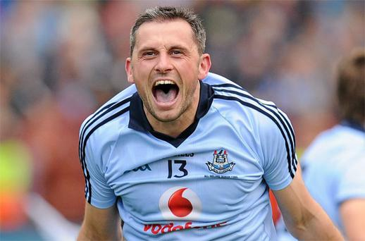 Alan Brogan celebrates at the final whistle of the 2011 All-Ireland final but Vodafone will not feature on the Dublin jersey beyond this year