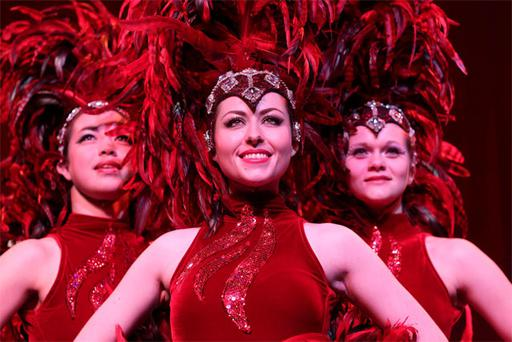 Dancers Claire Deegan, Sarrah Fossett and Christine Sorrenson from Fossett's circus which is celebrating 125 years in business