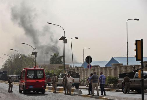 Four explosions ripped through central Baghdad