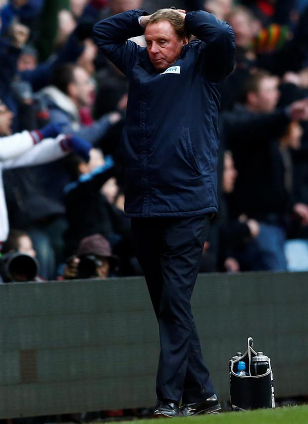 Queens Park Rangers' manager Harry Redknapp reacts at the final whistle
