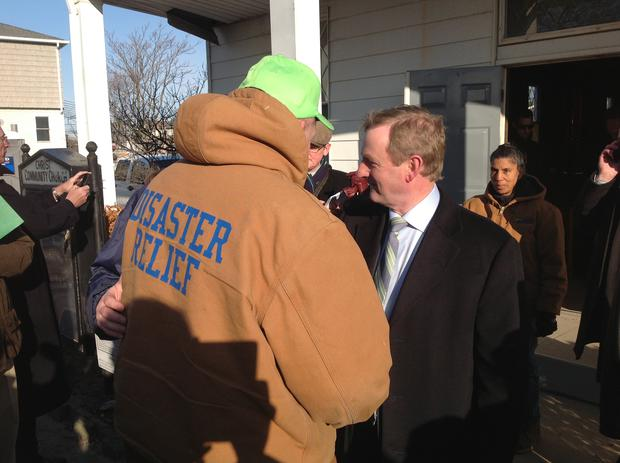 Taoiseach Enda Kenny with Irish American residents of Breezy Point in Long Island