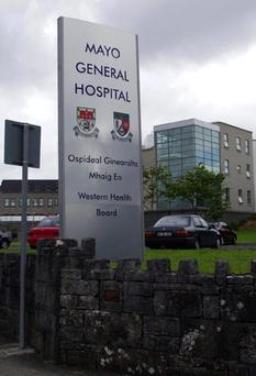 The Sign at Mayo General Hospital Castlebar. Picture. Frank Dolan.