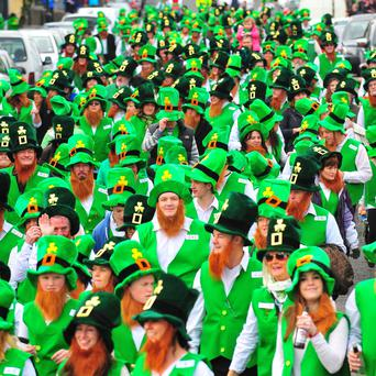 The bid to break the world record for the largest gathering of leprechauns, in Glenties