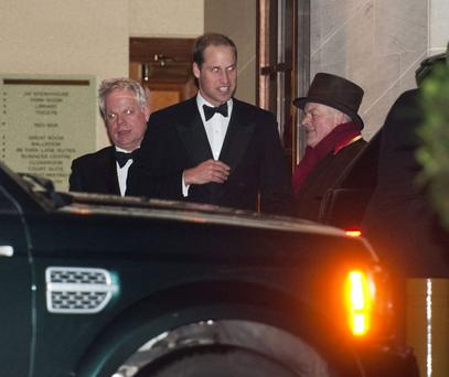 Prince William at the dinner last night.
