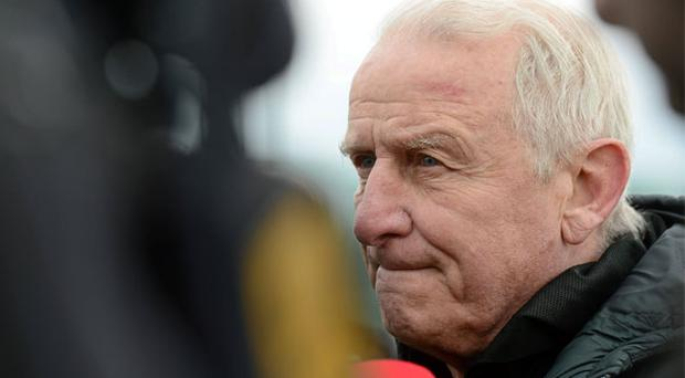 Republic of Ireland manager Giovanni Trapattoni speaking to the media during a management update