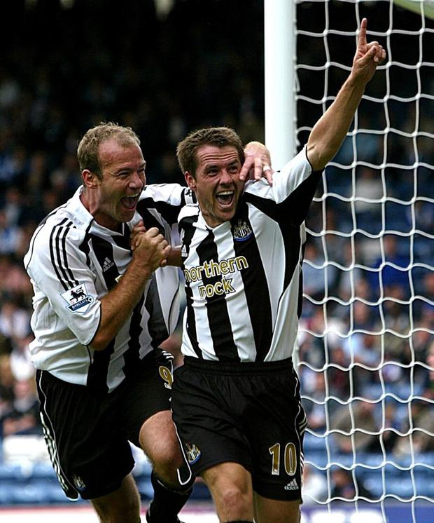 Alan Shearer and Michael Owen at Newcastle