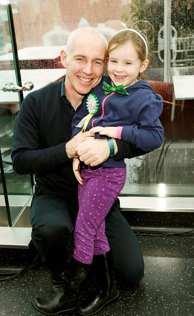 Ray D'Arcy and daughter Kate at the Marks and Spencer St Patrick's Day breakfast