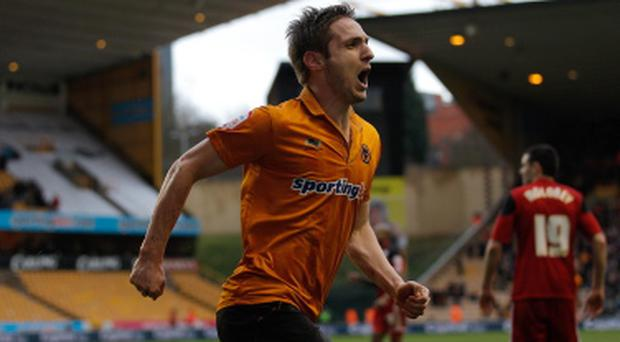 Wolverhampton Wanderers v Bristol City - npower Championship...WOLVERHAMPTON, ENGLAND - MARCH 16: Kevin Doyle of Wolves celebrates scoring his team's second goal during the npower Championship match between Wolverhampton Wanderers and Bristol City at Molineux on March 16, 2013 in Wolverhampton, England. (Photo by Harry Engels/Getty Images)...S