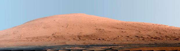 A portion of Mount Sharp, on Mars
