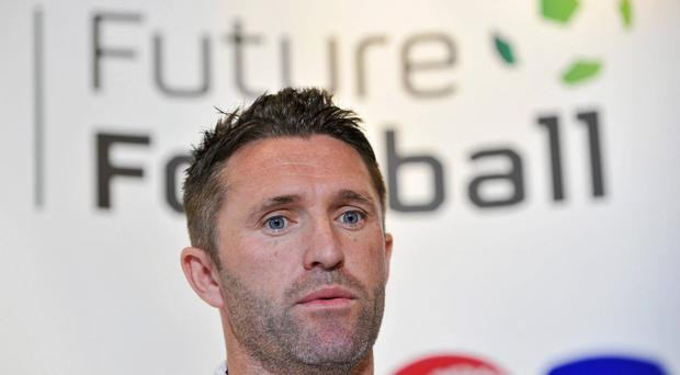 Robbie Keane was unveiled as ambassador for the McDonald's FAI Future Football programme today. Photo: Sportsfile