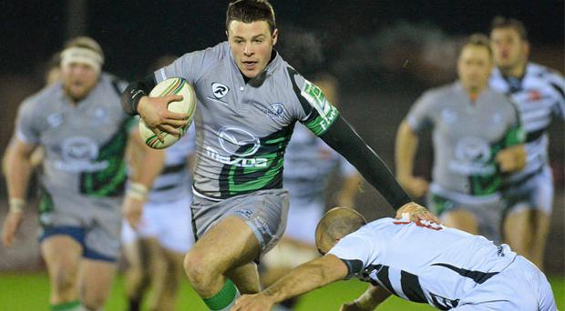 Robbie Henshaw, pictured here in action for Connacht against Zebre, has emerged as one of Ireland's brightest prospects