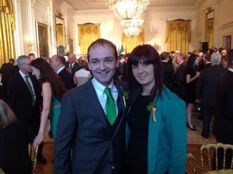 Henry Healy and Avril Healy at the White House