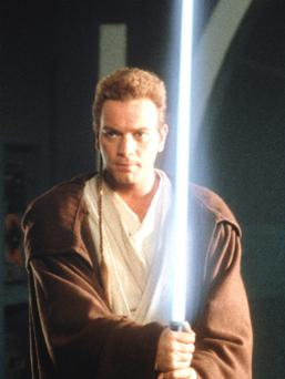 Ewan MacGregor as a Jedi knight