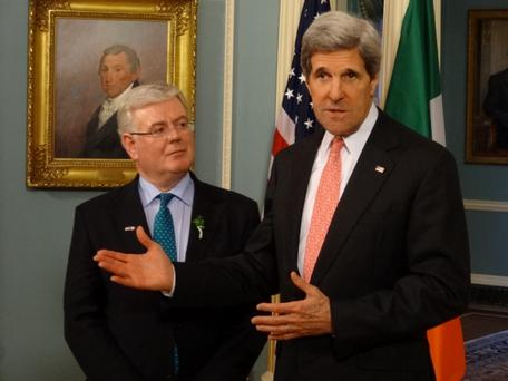 Eamon Gilmore and John Kerry today - 18.3.13