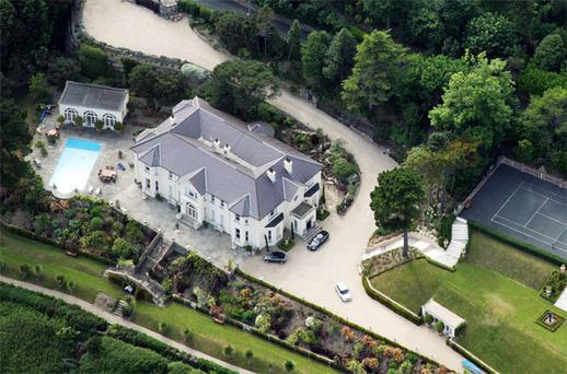 The mansion in Killiney, Dublin, was once valued at €30m