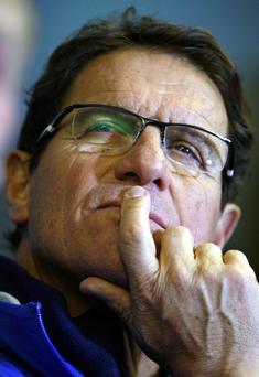 Russia manager Fabio Capello during the training session at Windsor Park, Belfast, Northern Ireland. PRESS ASSOCIATION Photo. Picture date: Thursday March 21, 2013. See PA story SOCCER Russia. Photo credit should read: Paul Faith/PA Wire