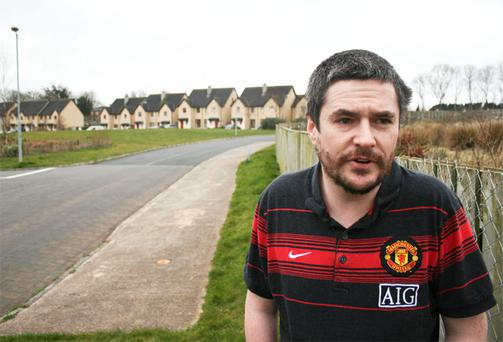 Ryan Fitzgerald (32) in the unfinished Rosmor estate in Co Limerick