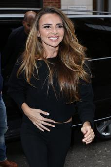 LONDON, UNITED KINGDOM - NOVEMBER 12: Nadine Coyle from Girls Aloud seen at BBC Radio One on November 12, 2012 in London, England. (Photo by Neil Mockford/FilmMagic)