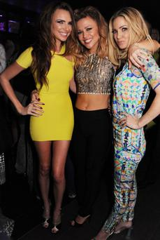 Nadine Coyle, Kimberley Walsh and Sarah Harding of Girls Aloud