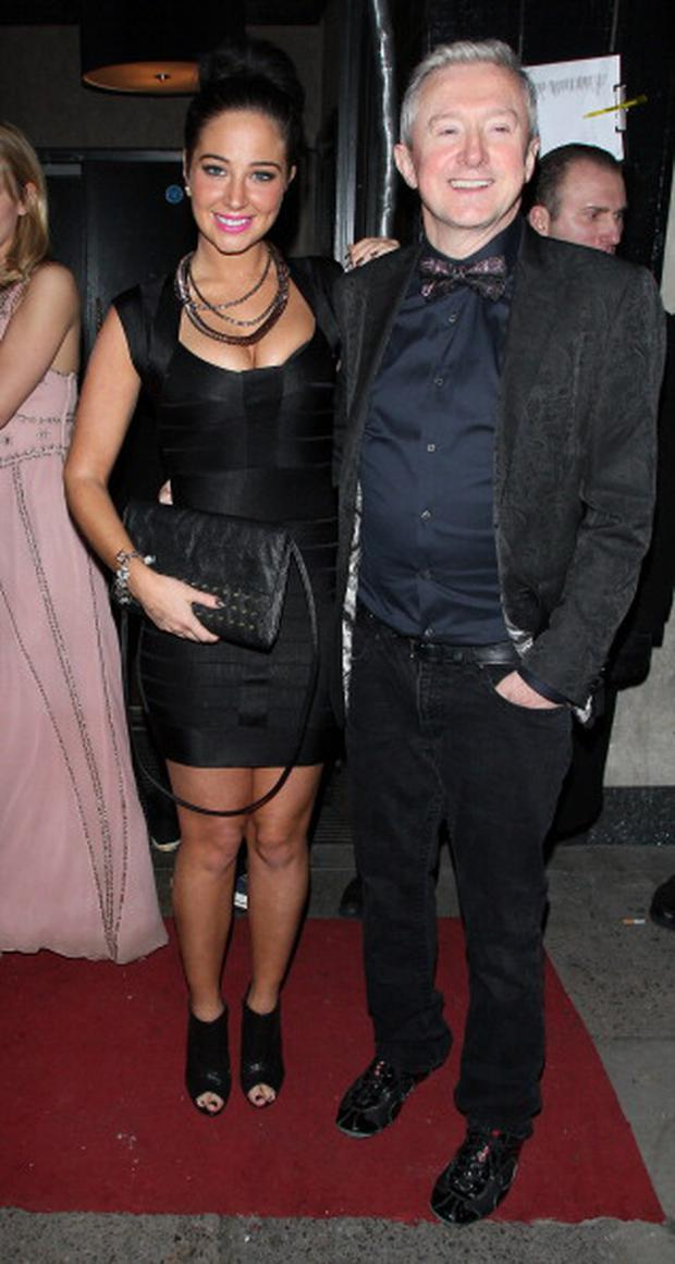 LONDON, UNITED KINGDOM - FEBRUARY 16: Tulisa Contostavlos and Louis Walsh at Rose night club on February 16, 2013 in London, England. (Photo by Mark Milan/FilmMagic)