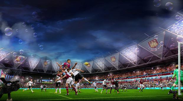 London Legacy Development Corporation artist impression of how the Olympic Stadium would look like once West Ham United took over