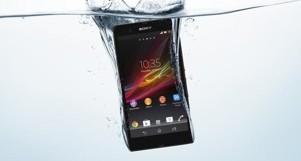 The Sony Xperia Z mobile phone is waterproof to one metre