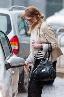 Sinead King leaving court today. Photo Collins Courts.