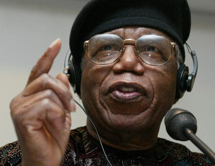 Nigerian author Chinua Achebe
