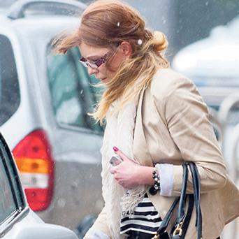 Sinead King leaving court after she received a 12-month suspended sentence.