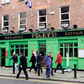 ICONIC: Foley's Pub on Merrion Row in Dublin is beloved of politicians and civil servants