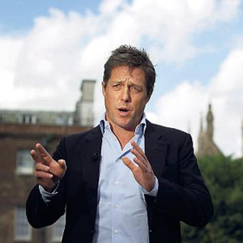 LEADING ROLE: Actor Hugh Grant, as frontman of Hacked Off, has become a weighty public figure who is listened to.