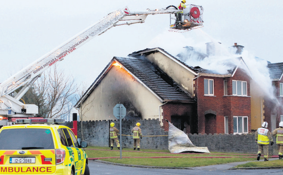 The house in Ennis that now faces demolition after a fire caused structural damage. PRESS 22