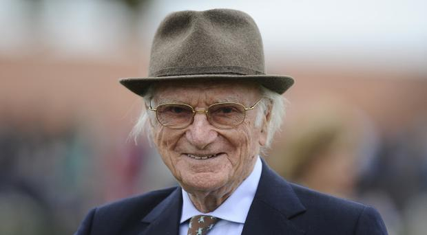 Newmarket Races...NEWMARKET, ENGLAND - SEPTEMBER 24: Sir Peter O'Sullevan at Newmarket racecourse on September 24, 2011 in Newmarket, England. (Photo by Alan Crowhurst/Getty Images)...S